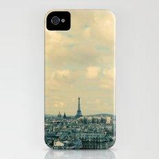 Paris In Blue iPhone (4, 4s) Slim Case