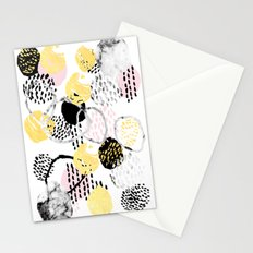 Amalia - gold abstract black and white glitter foil art print texture ink brushstroke modern minimal Stationery Cards