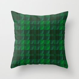Dark Green Tartan Throw Pillow