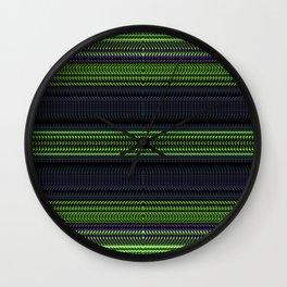 Apple Grape Rag Weave II by Chris Sparks Wall Clock