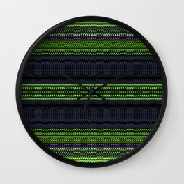 Apple Grape Rag Weave II by Chris Sparks Wall Clock