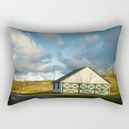 Aging Barn in the Morning Sun Rural Landscape Photograph Rectangular Pillow