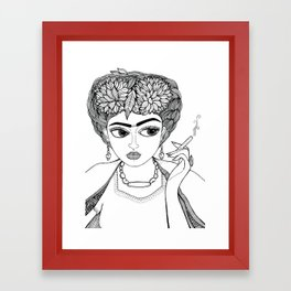 Ode to Frida Framed Art Print