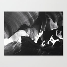 Antelope Canyon - Black and White Canvas Print