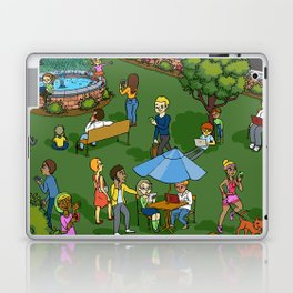 A Digital Day at the Fountain Laptop & iPad Skin