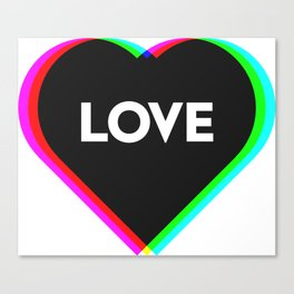 CMYK in RGB Love Heart Canvas Print