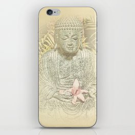 Find Your Bliss {Antique Inspired} Buddha Print iPhone Skin