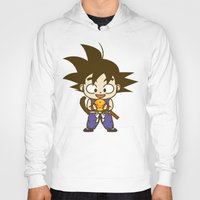 dragonball Hoodies featuring Young Goku with dragonball by Samtronika