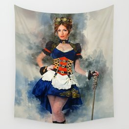 Steampunk Girl Wall Tapestry