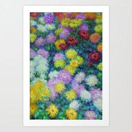 "Claude Monet ""Chrysanthemums"", 1897 Art Print"