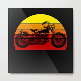 American Motorcycle Biker Metal Print