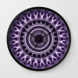 Dark violet mandala Wall Clock