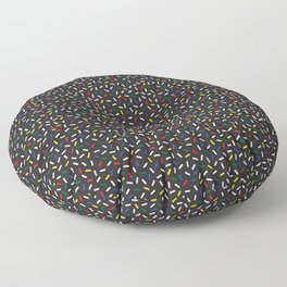 Postmodern Primary Christmas Bulb Sprinkles Floor Pillow