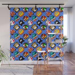 Super Mar!o World   blue sky   retro gaming pattern Wall Mural