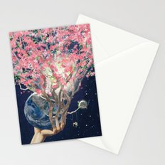 Love Makes The Earth Bloom Stationery Cards