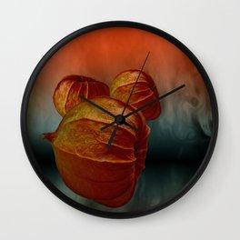 Physalis fire -2- Wall Clock