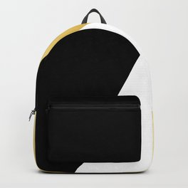 Elegant gold and black geometric design Backpack