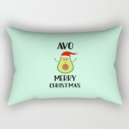 Avo Merry Christmas, Funny, Quote Rectangular Pillow