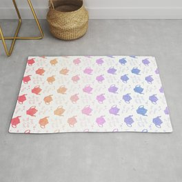 Time for Tea Pretty Pastel Colors Rug