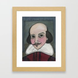 Much Ado About Shakespeare, Illustrated Writers Portrait Framed Art Print