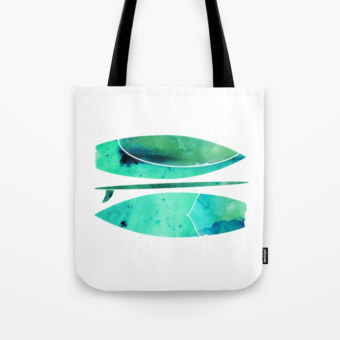 Watercolor Surfboards Tote Bag