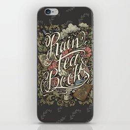 Rain, Tea & Books - Color version iPhone Skin
