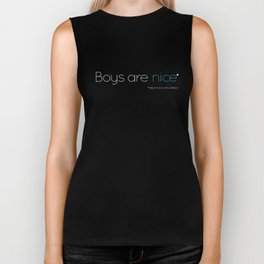Boys are nice (subject to terms & conditions) - Light edition Biker Tank