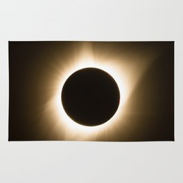 Totality - 2017 Total Solar Eclipse with Golden Corona Rug