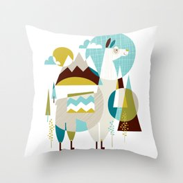 Mama the Llama Throw Pillow