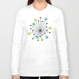 Atomic Age Nuclear Motif — Mid Century Modern Long Sleeve T-shirt