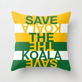 Save the Koala Throw Pillow