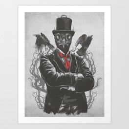 Fancy Crow Art Print