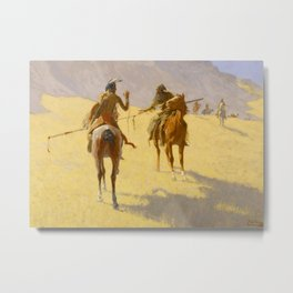 "Frederic Remington Western Art ""The Parley"" Metal Print"
