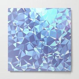 BLUE TRIANGLS Metal Print