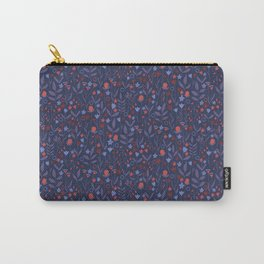 Intricate Dark Moody Floral Pattern Carry-All Pouch