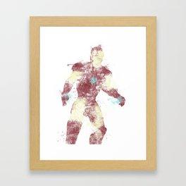 Stark Colour Bomb Framed Art Print