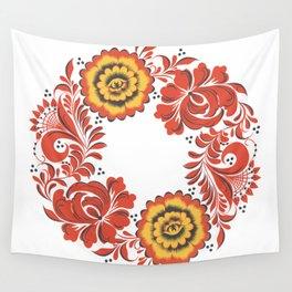 Flowers khokhloma Wall Tapestry