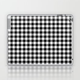 Classic Black and White Western Cowboy Buffalo Check Laptop & iPad Skin