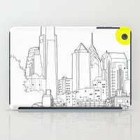 blueprint iPad Cases featuring Philly Blueprint BW by ralexandertrejo