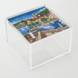 Port of Hvar, Croatia Acrylic Box