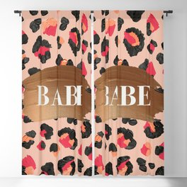 Babe – Hot Pink Leopard Print Blackout Curtain
