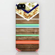 chevron  wood design Slim Case iPhone (5, 5s)