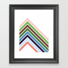 mountains {by day} Framed Art Print