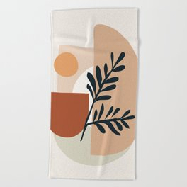Geometric Shapes Beach Towel