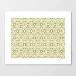 dots in green Canvas Print