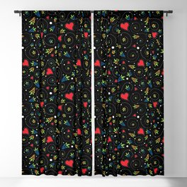 Good Luck Rooster - Just Pattern Blackout Curtain