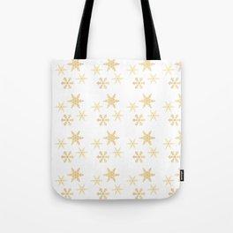Snowflakes on White Tote Bag
