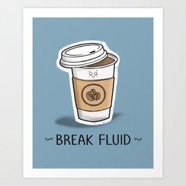 Break Fluid Art Print