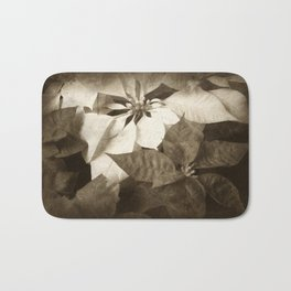 Mixed Color Poinsettias 2 Antiqued Bath Mat