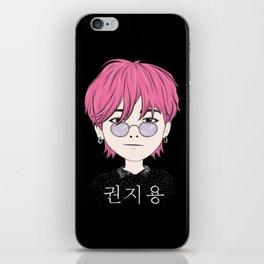 G-Dragon Cartoon Black iPhone Skin